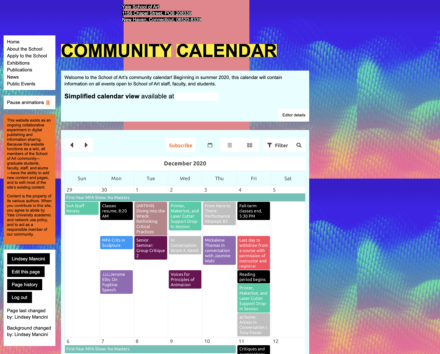 Schoolwide Calendaring Integration System